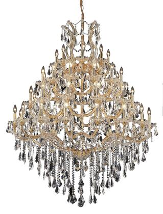 2801G46G/SS 2801 Maria Theresa Collection Large Hanging Fixture D46in H62in Lt: 48+1 Gold Finish (Swarovski Strass/Elements