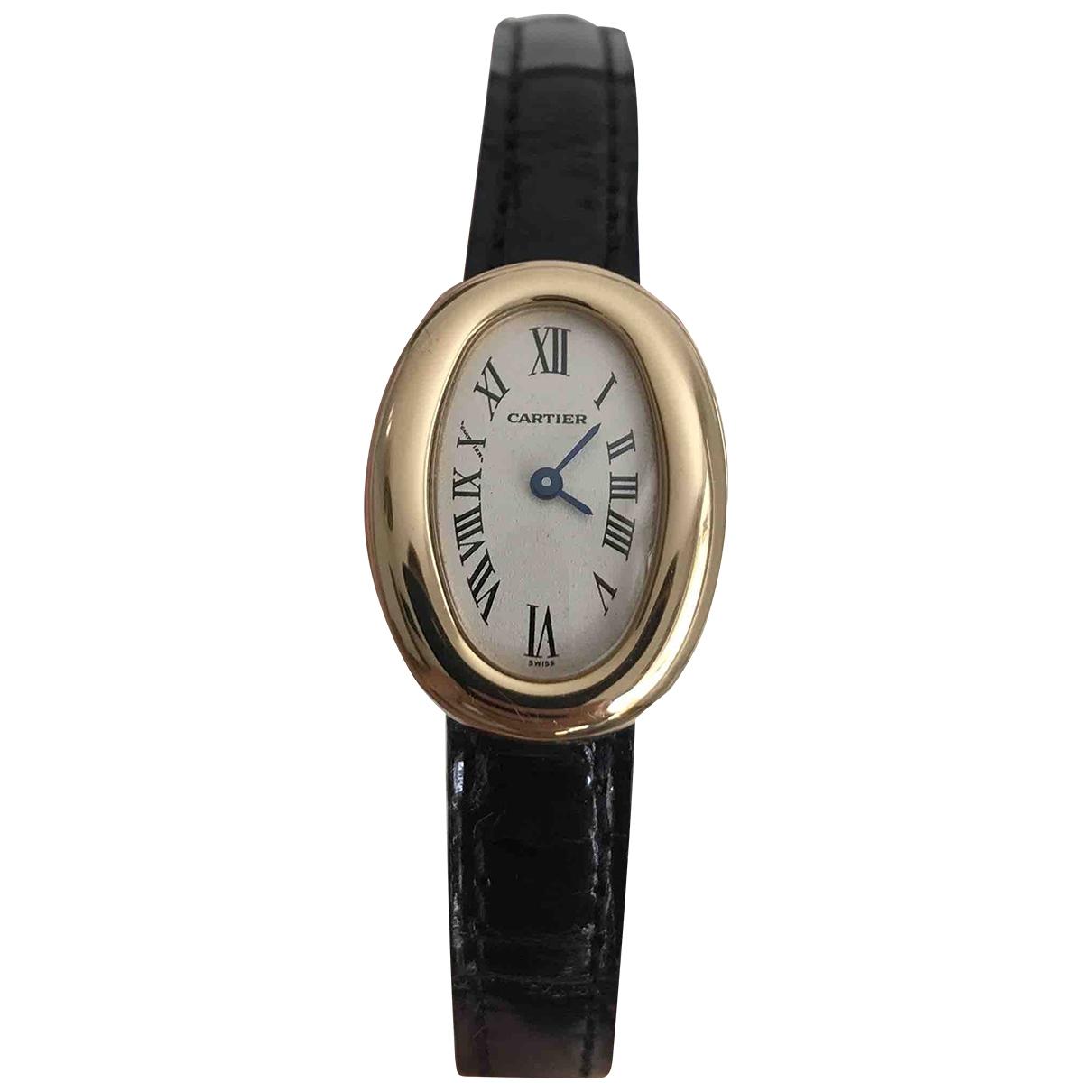 Cartier Baignoire Uhr in  Gold Gelbgold
