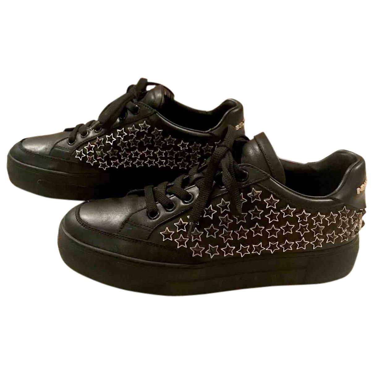 Philipp Plein - Baskets   pour femme en cuir - noir