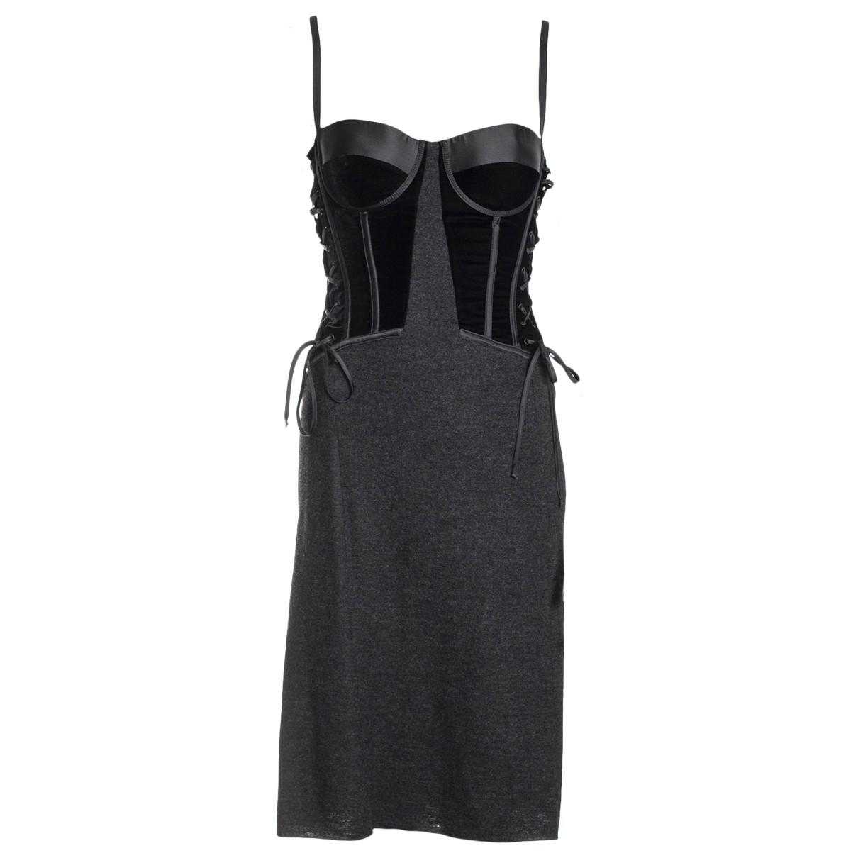 Bottega Veneta \N Kleid in  Schwarz Wolle