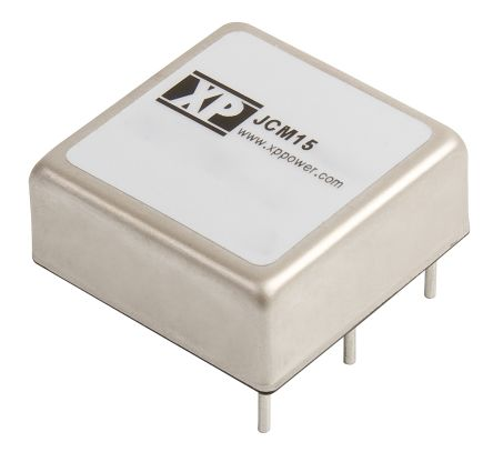 XP Power JCM 15W Isolated DC-DC Converter Through Hole, Voltage in 18 → 36 V dc, Voltage out 15V dc