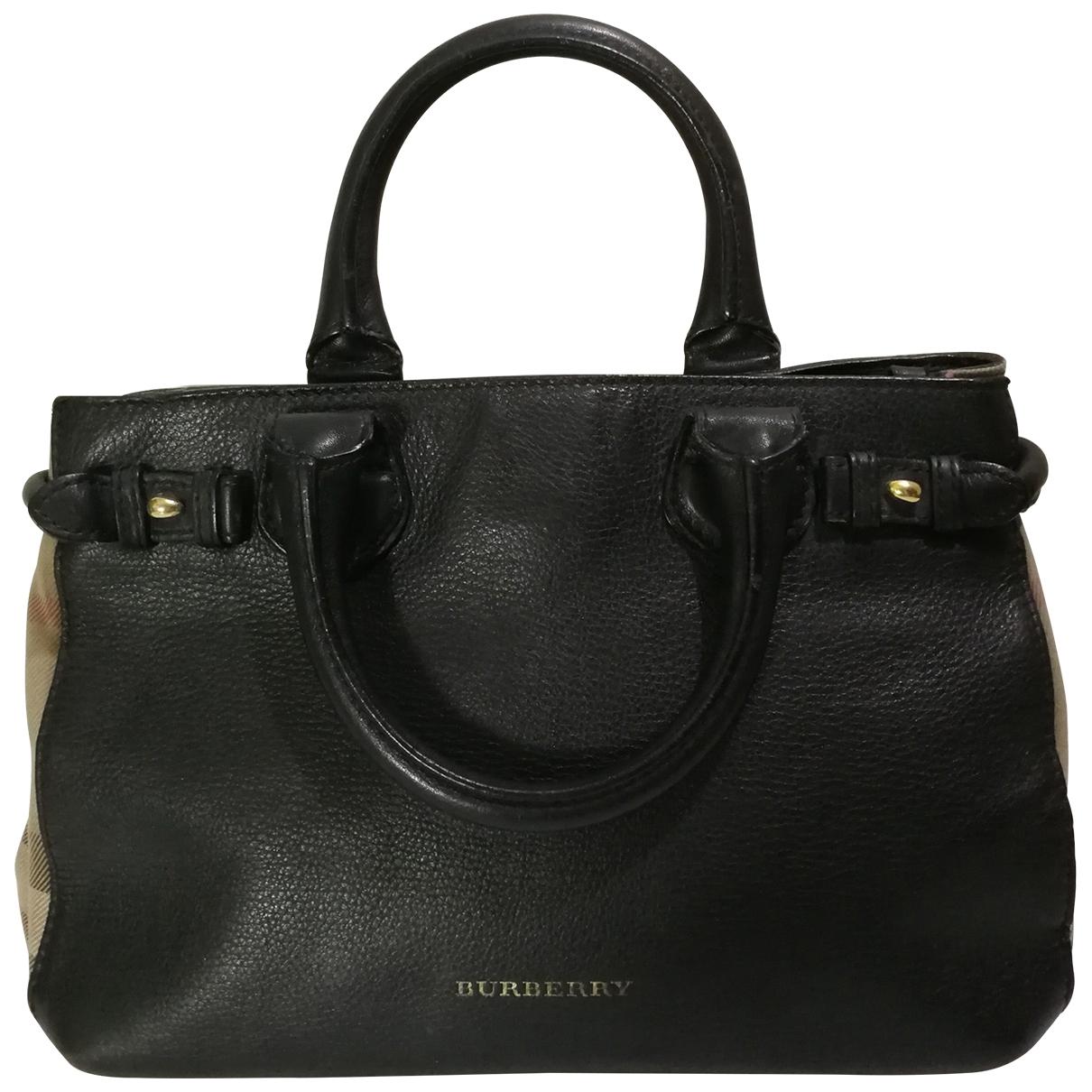 Burberry The Banner  Black Leather handbag for Women \N