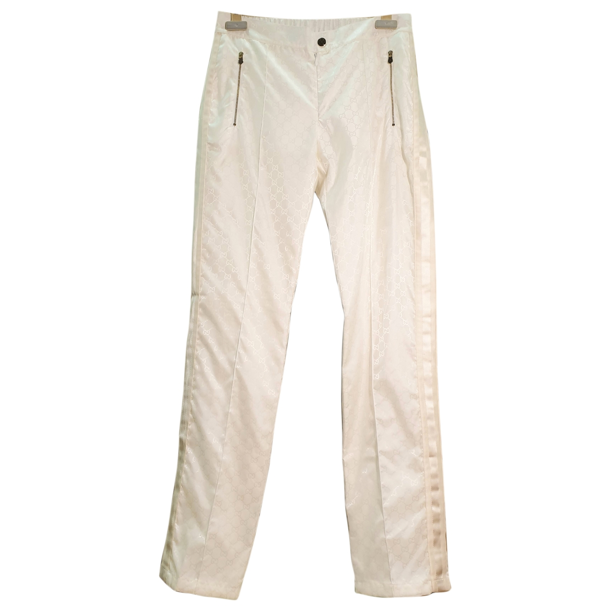 Gucci \N White Trousers for Women S International