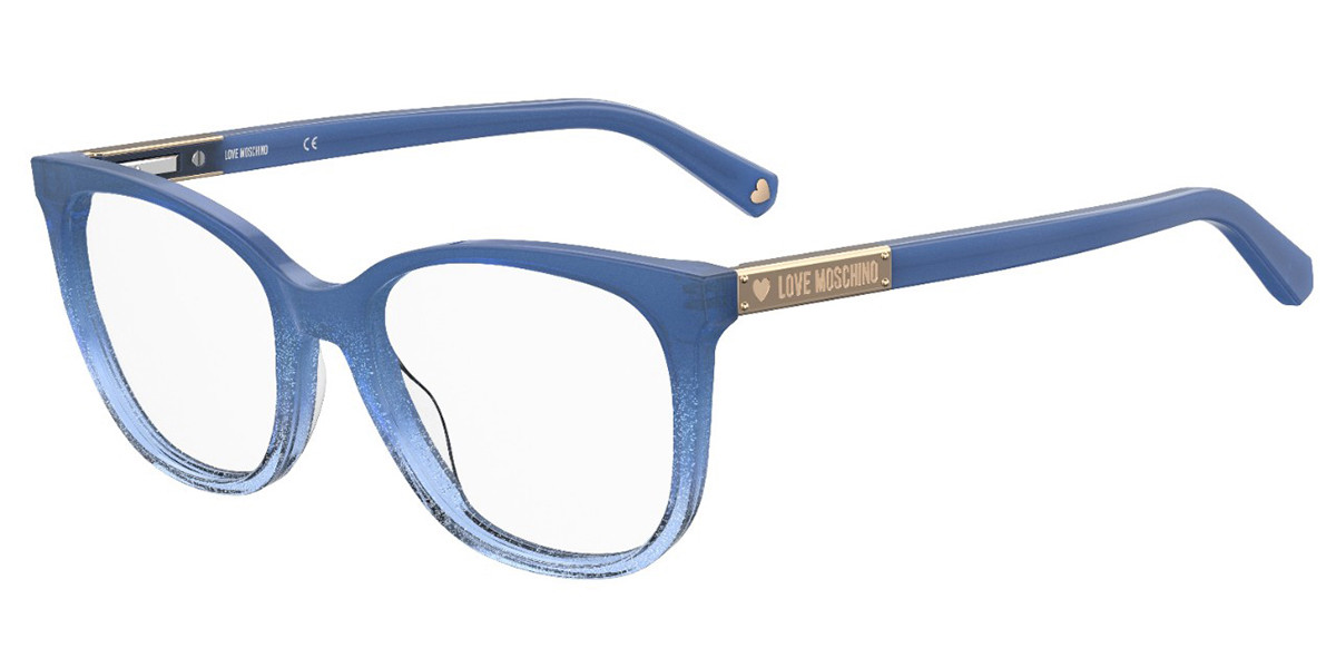 Moschino Love MOL564 PJP Men's Glasses Blue Size 53 - Free Lenses - HSA/FSA Insurance - Blue Light Block Available