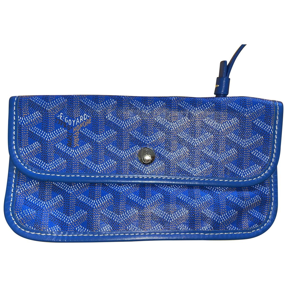 Goyard - Petite maroquinerie   pour femme en toile - bleu
