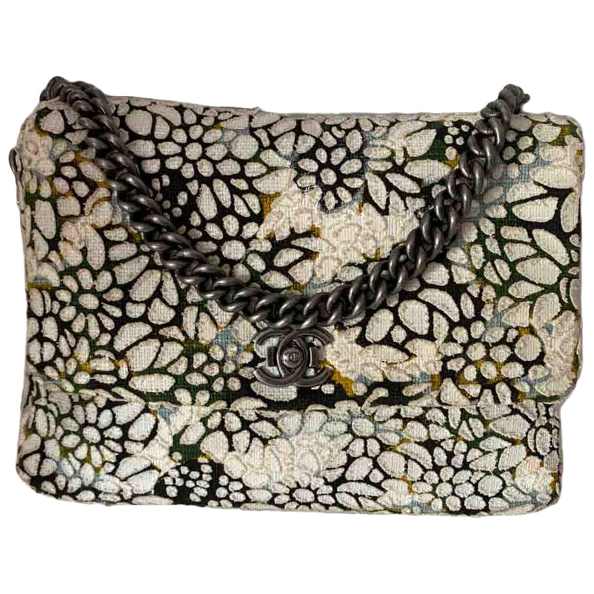 Chanel \N Handtasche in  Weiss Baumwolle