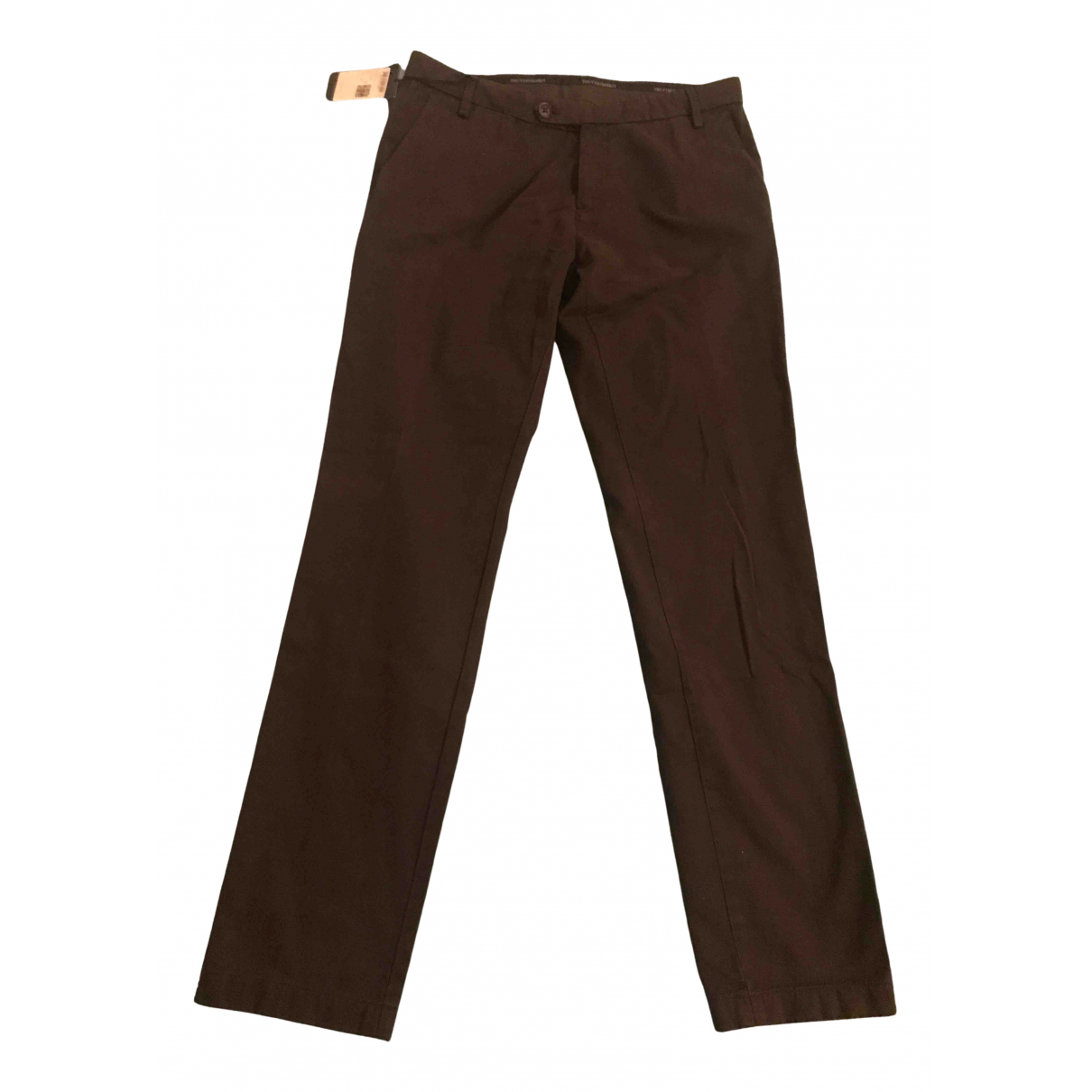 Trussardi N Brown Cotton Trousers for Men 48 IT
