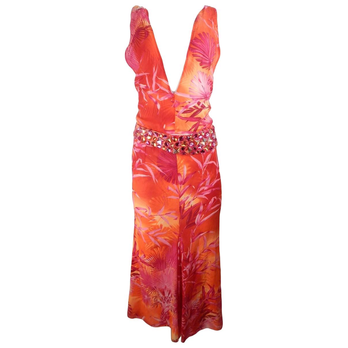 Gianni Versace \N Kleid in  Orange Polyester