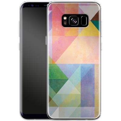 Samsung Galaxy S8 Silikon Handyhuelle - Color Blocking 1 von Mareike Bohmer