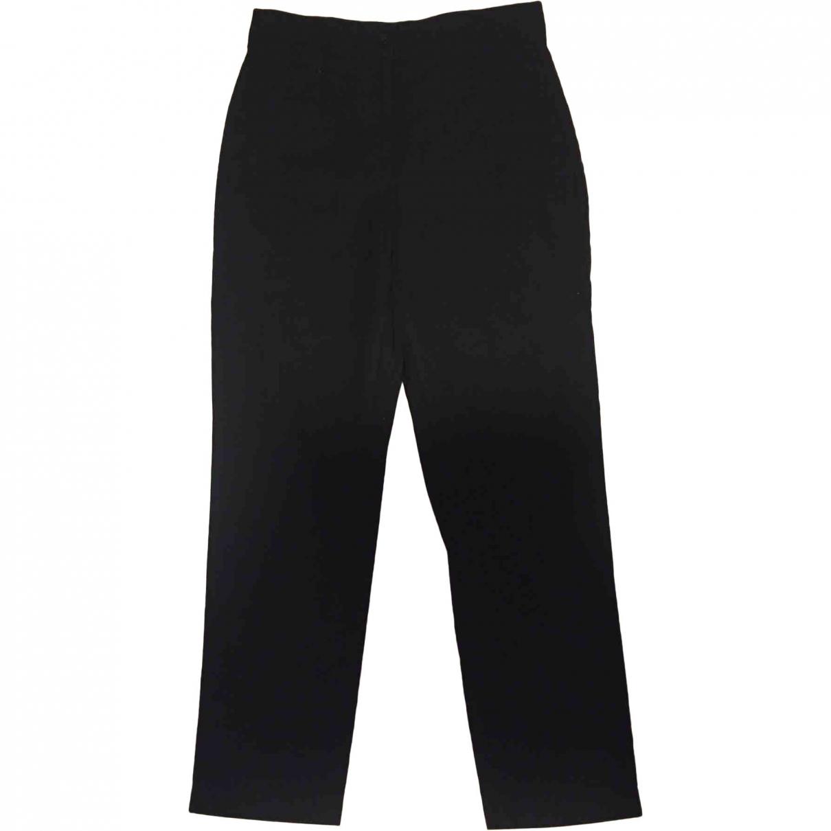 Iro \N Black Cotton Trousers for Women 38 FR