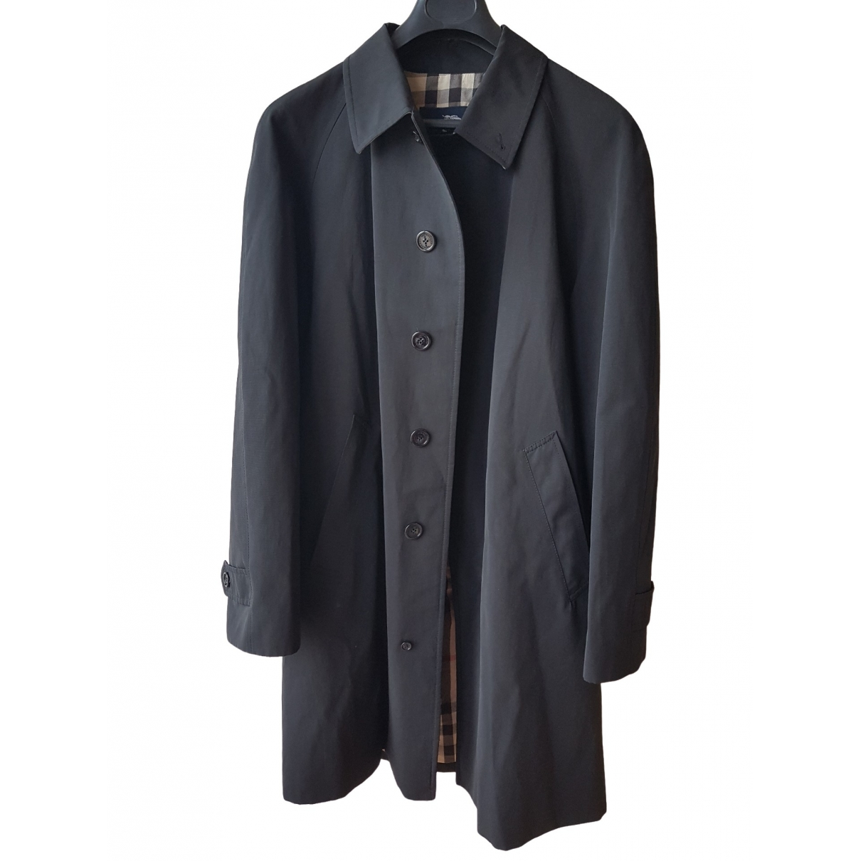 Burberry \N Trench in  Schwarz Baumwolle