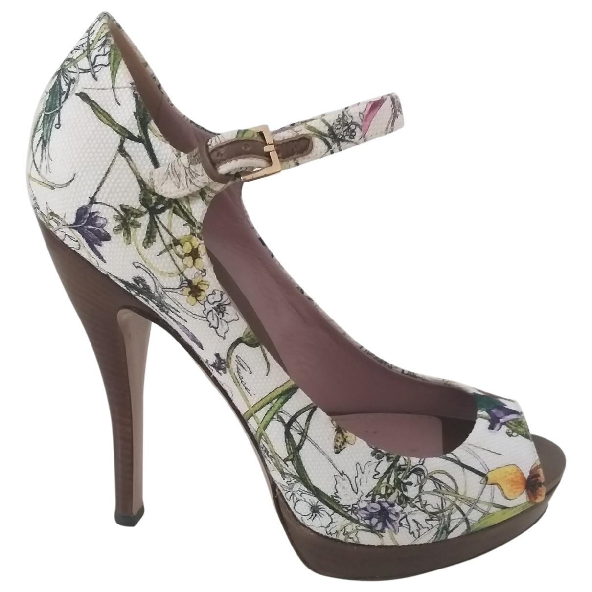 Gucci \N White Cloth Heels for Women 37 EU