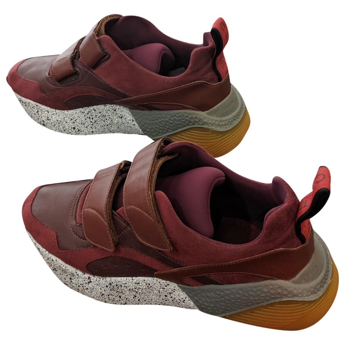 Stella Mccartney Eclypse Burgundy Cloth Trainers for Women 40 EU