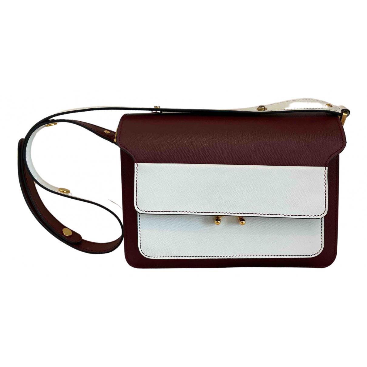 Marni Trunk Red Leather handbag for Women \N