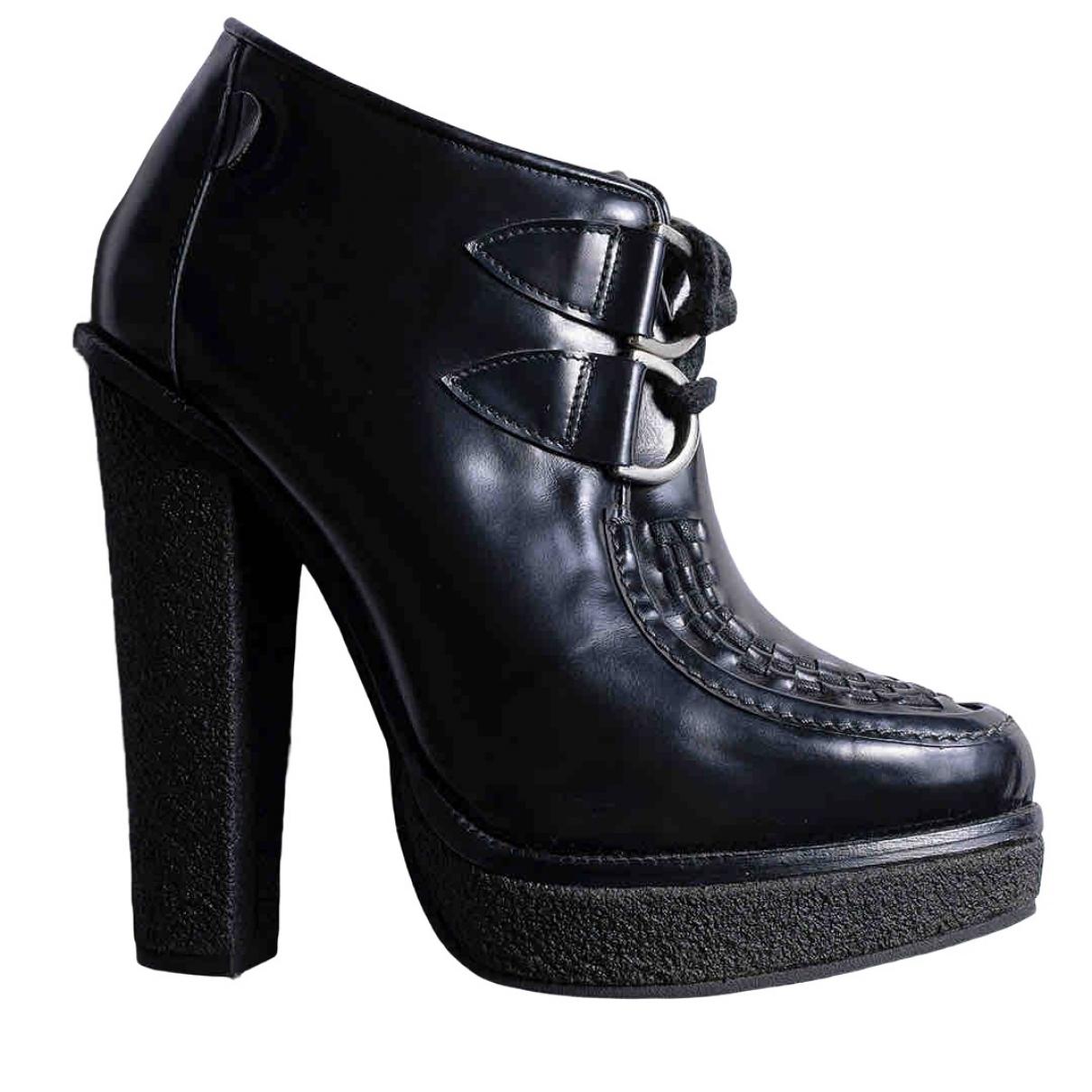 B-store London - Boots   pour femme en cuir - noir