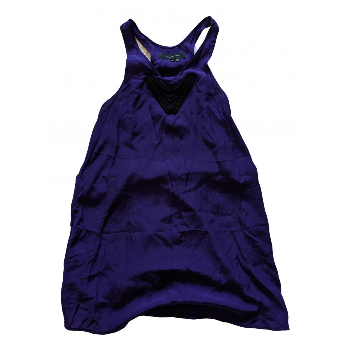 Mini vestido de Seda Alexander Wang