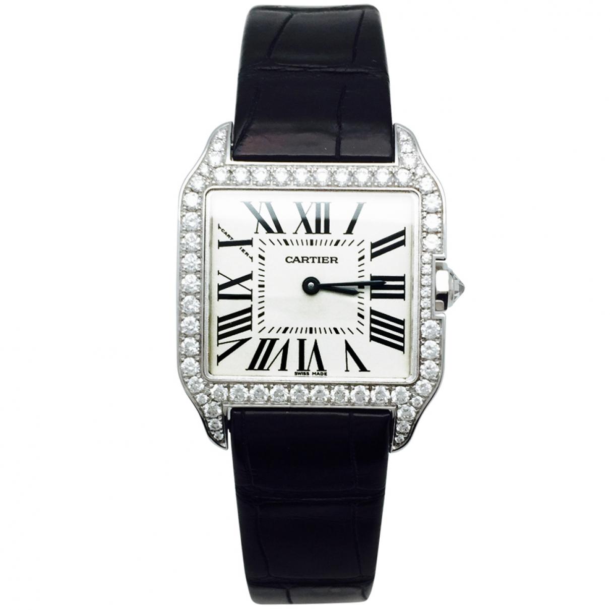 Reloj Santos 100 de Oro blanco Cartier