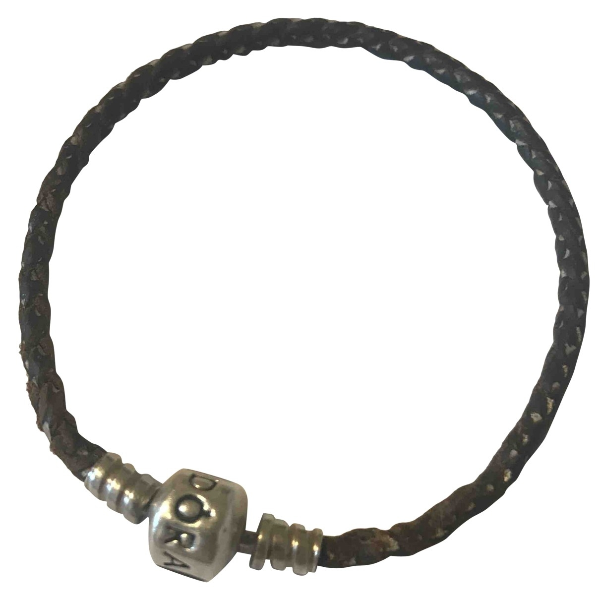 Pandora - Bracelet   pour femme en argent - marron