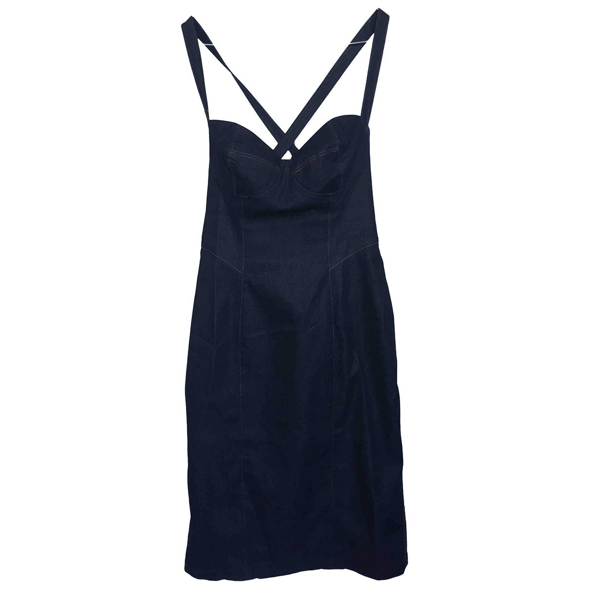 Zapa \N Kleid in  Marine Baumwolle - Elasthan