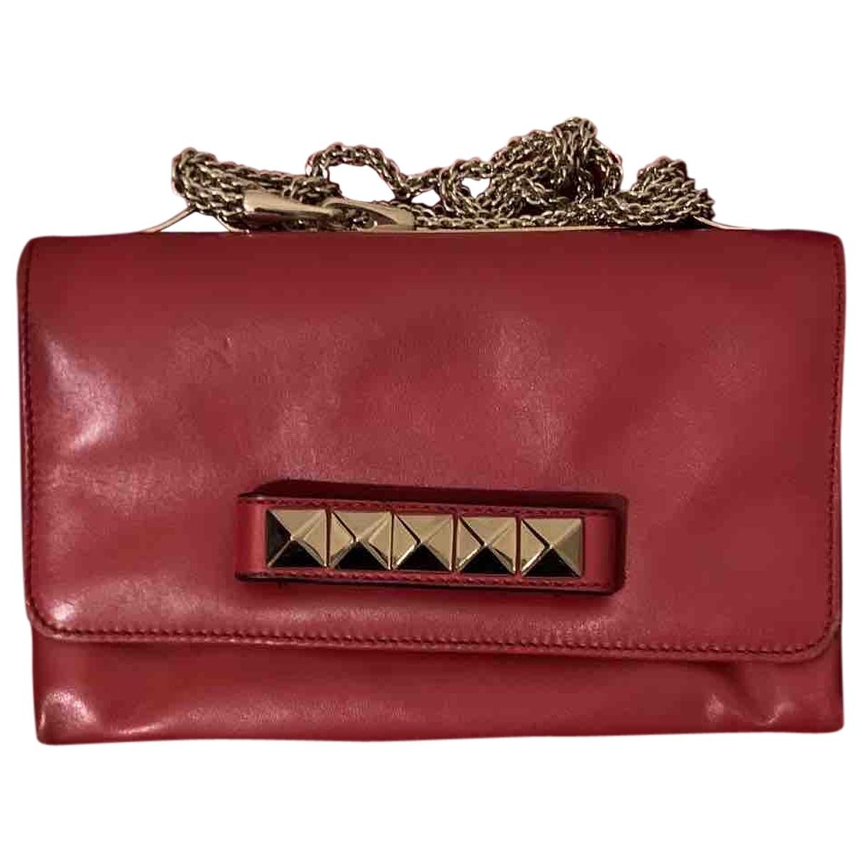 Valentino Garavani Vavavoom Handtasche in  Rot Leder
