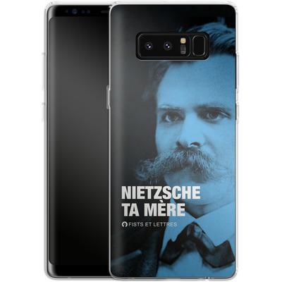 Samsung Galaxy Note 8 Silikon Handyhuelle - Nietzsche Ta Mere von Fists Et Lettres