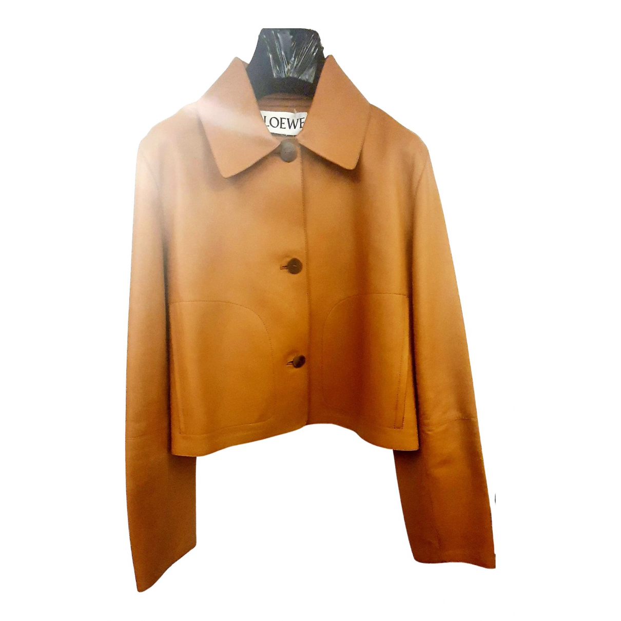 Loewe N Brown Leather Leather jacket for Women 38 FR