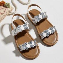 Toddler Girls Glitter Butterfly Decor Sandals