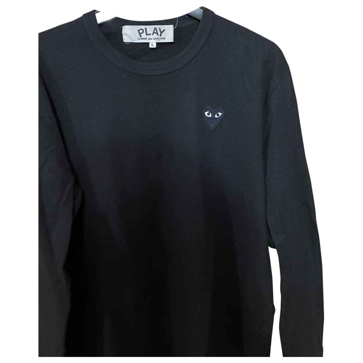 Play Comme Des Garçons N Black Cotton Knitwear & Sweatshirts for Men L International