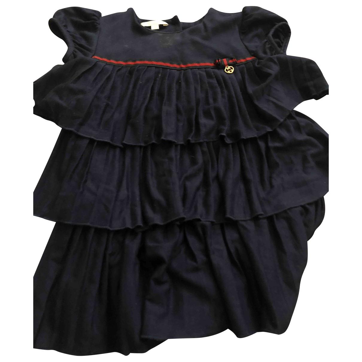 Gucci \N Kleid in  Blau Polyester
