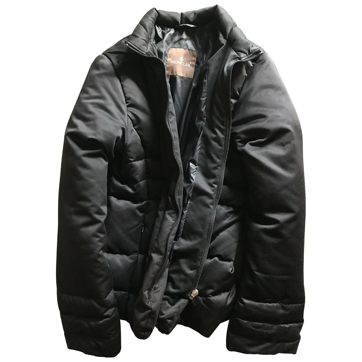 Moncler \N Lederjacke in  Schwarz Polyester