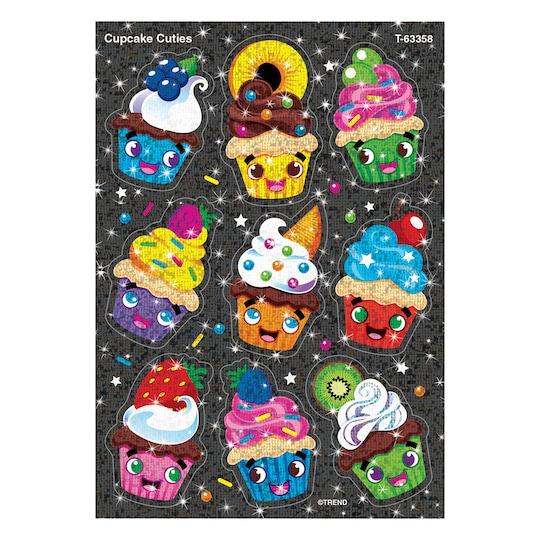 Trend Enterprises® Cupcake Cuties Sparkle Stickers®, 6 Packs Of 18 | Michaels®