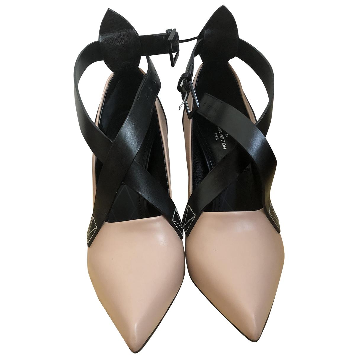 Louis Vuitton - Escarpins   pour femme en cuir - beige