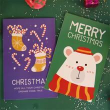 30 Blaetter Zufaellige Postkarte mit Weihnachten Muster