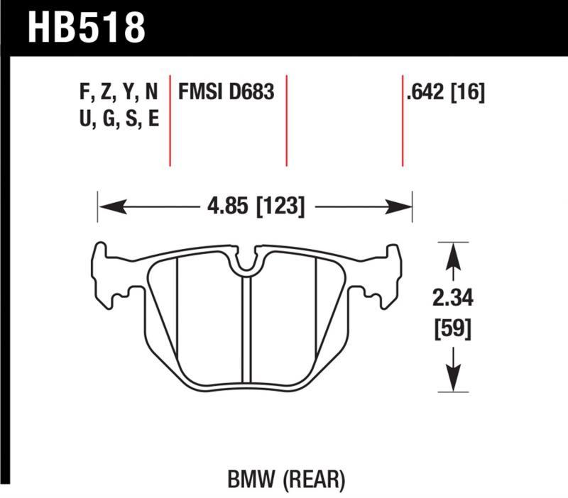 Hawk Performance HB518B.642 Disc Brake Pad Rear