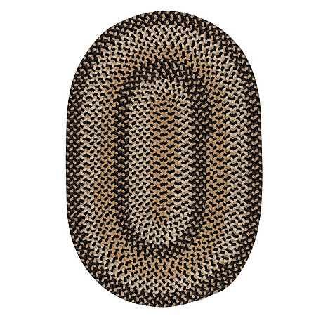 Colonial Mills Brook Farm Reversible Braided Indoor Outdoor Round Rug, One Size , Black