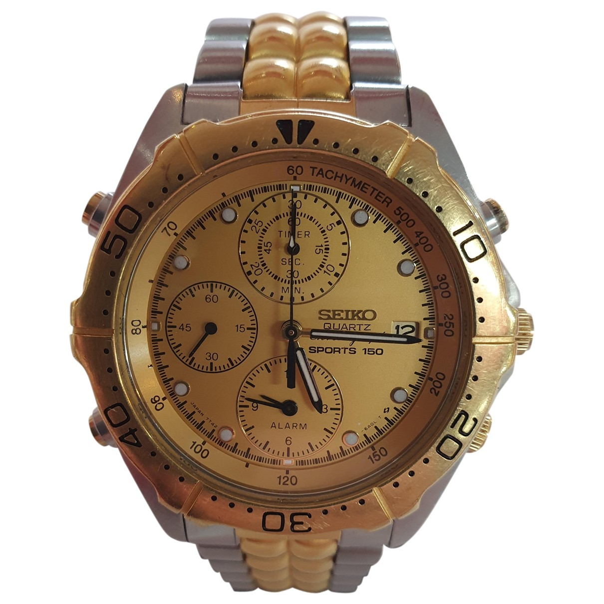 Seiko \N Uhr in  Grau Vergoldet