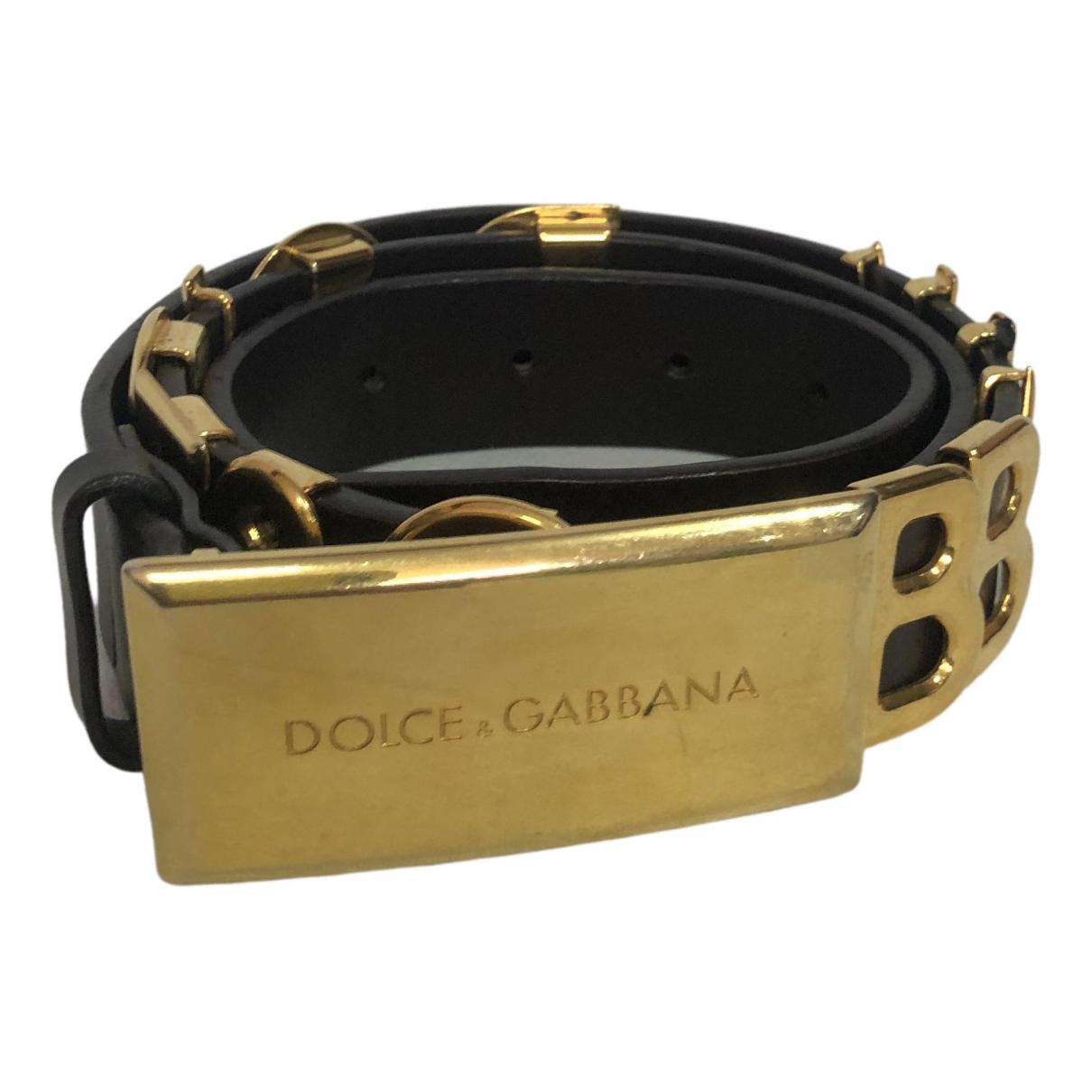 Dolce & Gabbana \N Black Leather belt for Women 90 cm
