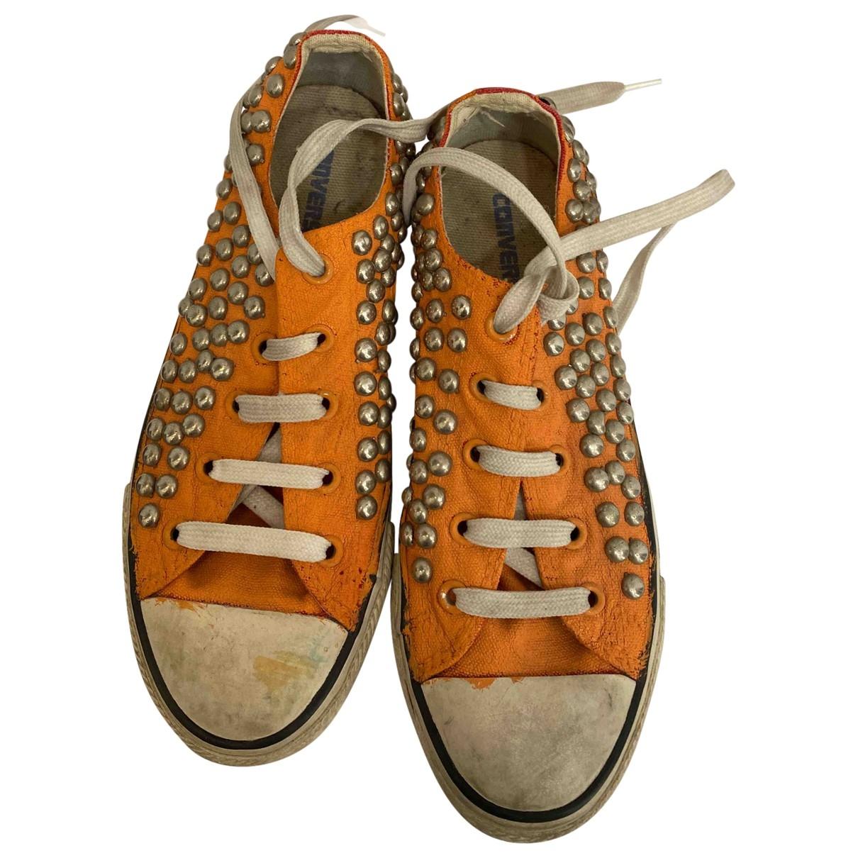 Converse - Boots   pour femme en caoutchouc - orange