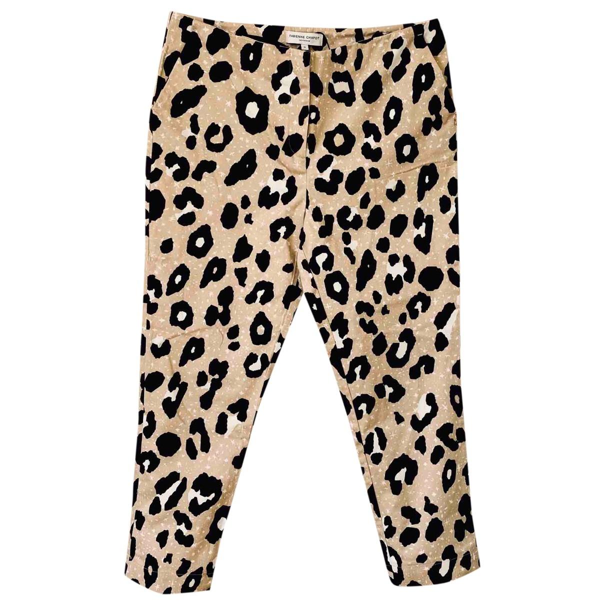 Pantalon en Algodon Beige Fabienne Chapot