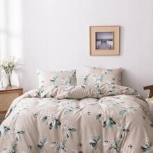 Sets ropa de cama con estampado de flor sin relleno
