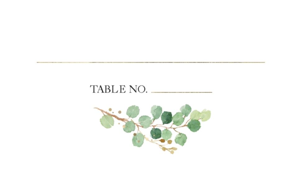 Matching Suites Business Cards, Set of 40, Rounded Corner, Card & Stationery -Wedding Place Card Botanical Laurel by Tumbalina