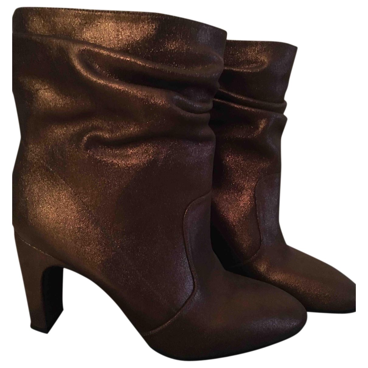 Chie Mihara \N Gold Leather Ankle boots for Women 38.5 IT