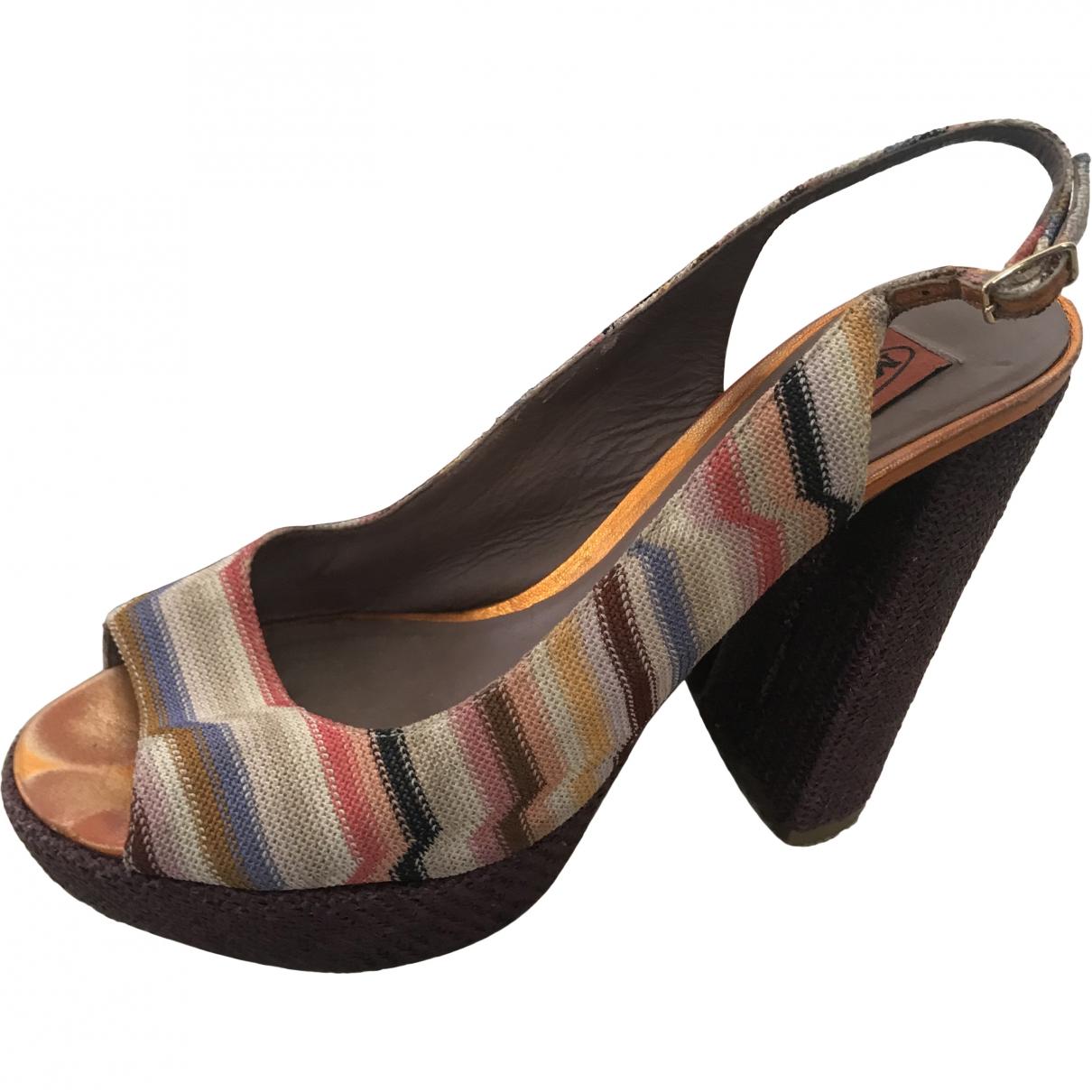 Missoni \N Orange Cloth Sandals for Women 37.5 EU