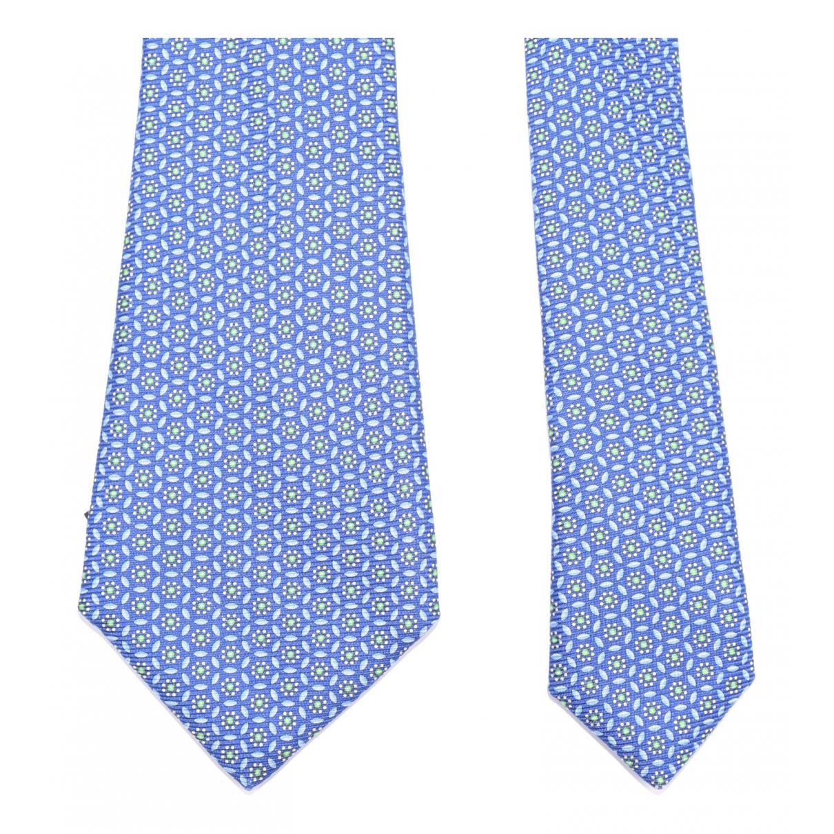 Kiton \N Krawatten in  Blau Seide