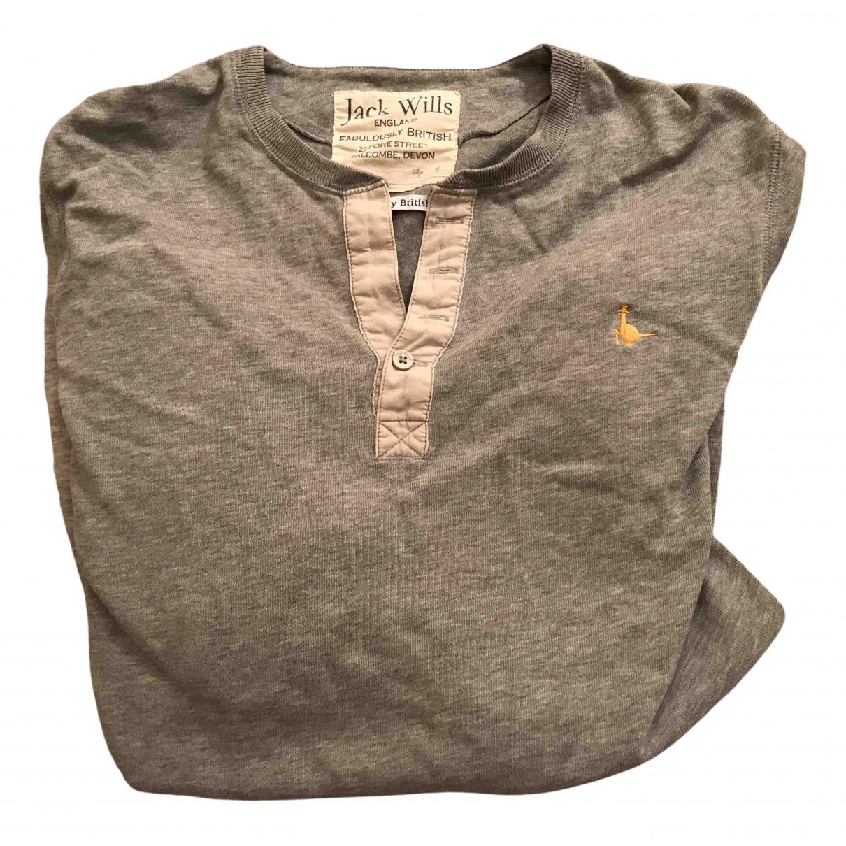 Jack Wills - Tee shirts   pour homme en coton - gris