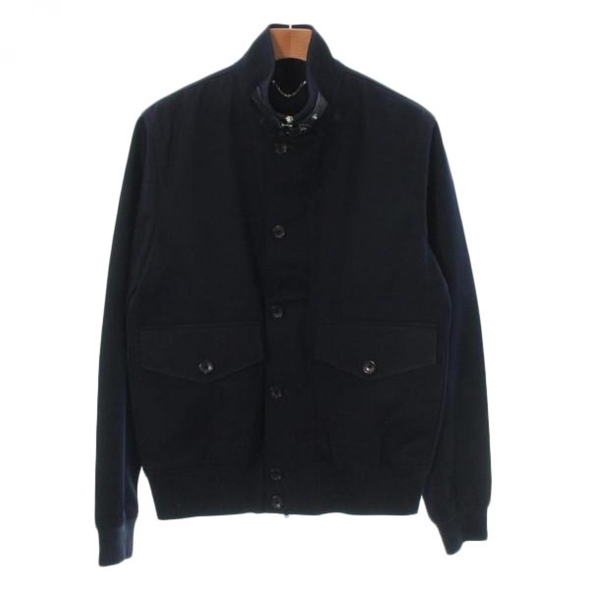 Louis Vuitton \N Jacke in  Blau Baumwolle
