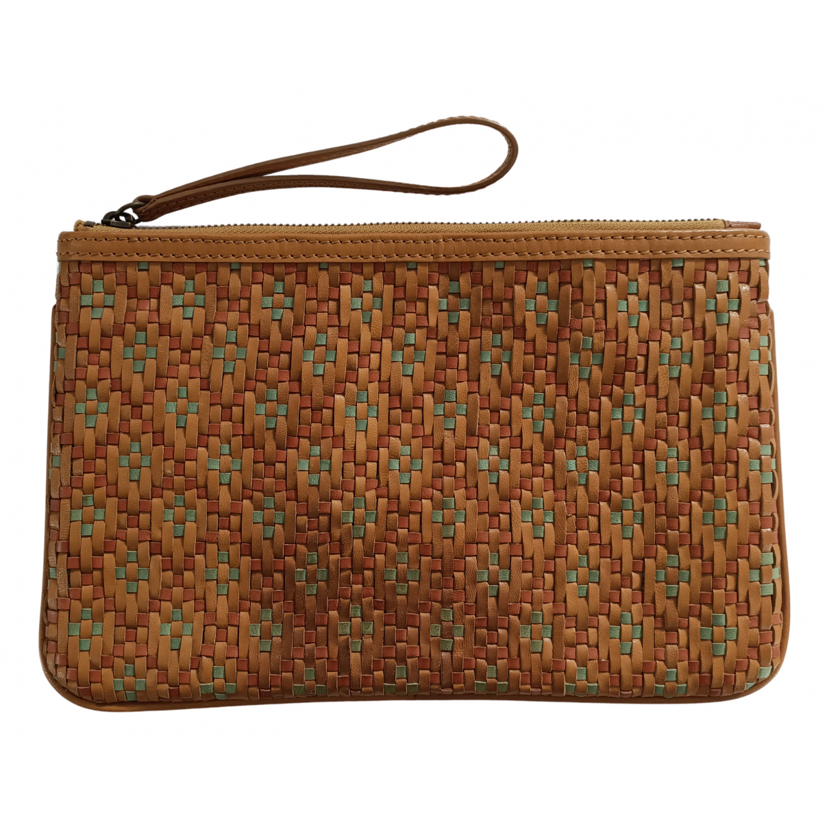 Comptoir Des Cotonniers - Pochette   pour femme en cuir - multicolore