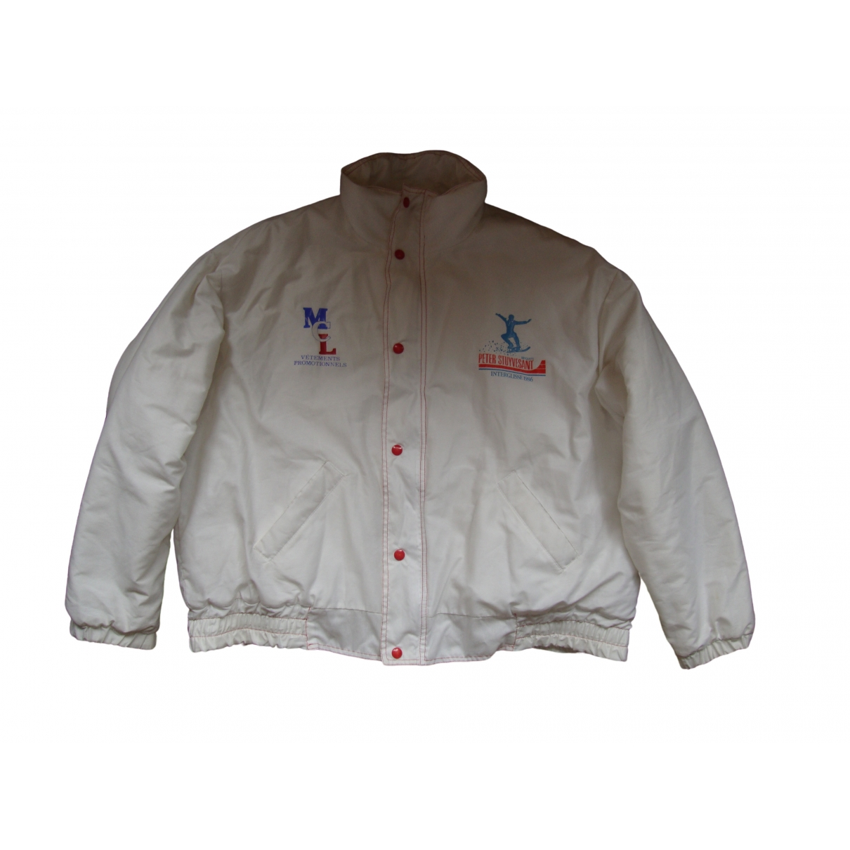 Non Signe / Unsigned \N Lederjacke in  Weiss Polyester