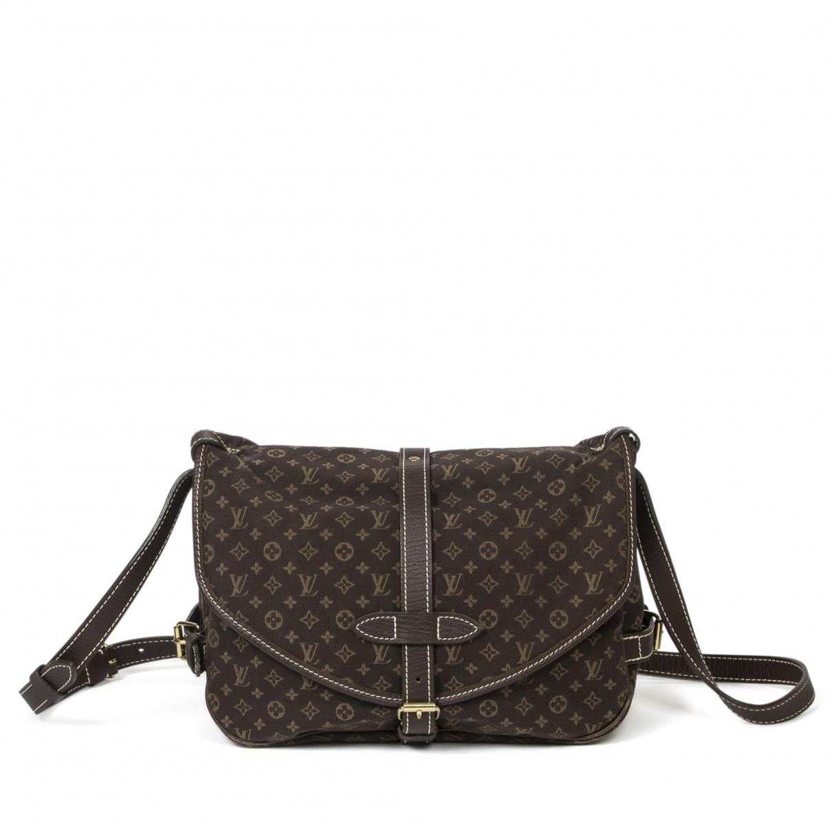 Louis Vuitton Saumur Handtasche in  Braun Baumwolle