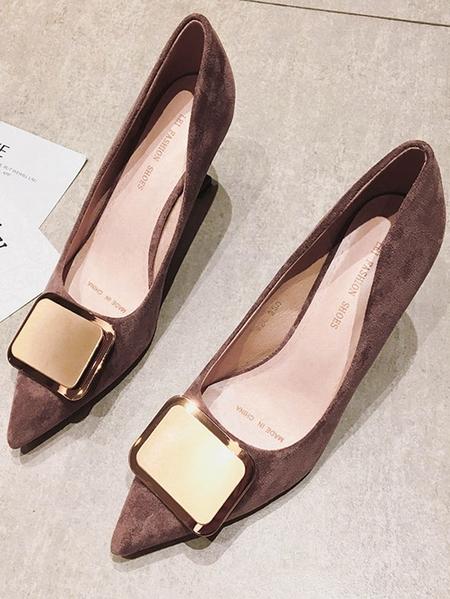Yoins Fashion Sequin Desigh Pointed High Heels